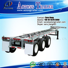 US design 3 Axle 40ft Or 20ft Used Trailers Container skeletal Truck Trailer/Container Semi Trailer chassis For Sale