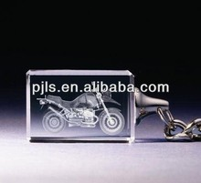 motorcycle / motorbike crystal keyring with logo laser