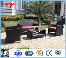 Deep Seating Leisure Wicker Rattan Outdoor Patio Furniture Garden Sofa Chair Set with Coffee Table