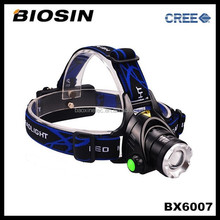 BX6007 Lens adjustable rechargeable 18650 battery IP65 heavy duty mining led headlight