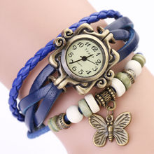 Quartz Ladies Wrist Retro Womens Watch Butterfly Pendant Western Watches