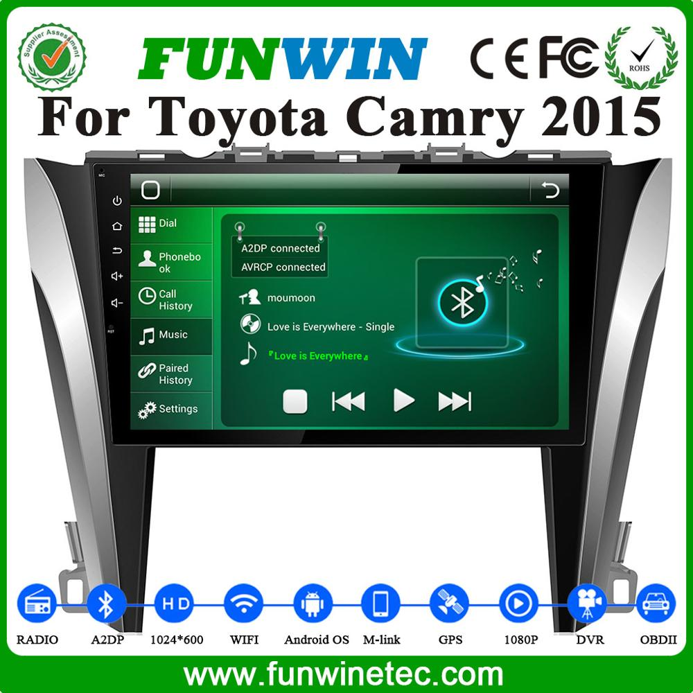 DVD Multimedia Car Audio Navigation and Entertainment System with Bluetooth for Toyota Camry 2012 2015 GPS Navigation