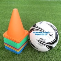 18cm High Soft Polyethylent(PE) Plastic Material Football Training Sports Agility Marker Cone