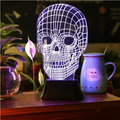 make your amazing design night light/OEM supplier custom personalised skull night lights for party decor