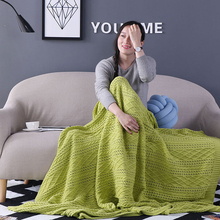 China Made knit cotton blankets throw