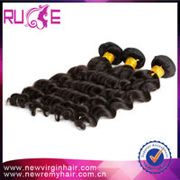 2015 Full cuticle wholesale no tangle deep body wave marley hair weft Indian 5A 14inch