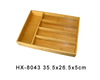 5-compartment kitchen antibacterial bamboo cultery storage tray