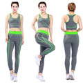 Ladies seamless stretch fitness gym clothes yoga wear suit