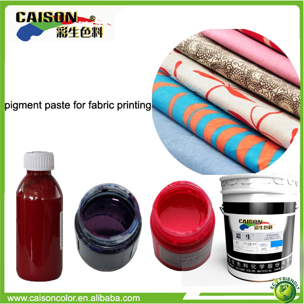 Eco friendly pigment paste for indian fabric screen printing