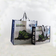 Recycled Shopping tote pp woven promotional bag