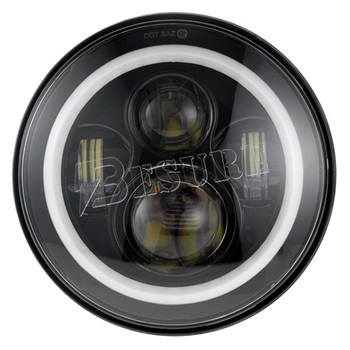 RGB Rock Lamp 45W LED Auto Flash Headlight Portable 7 Inch Car Accessories 4X4 Round LED For  Wrangler