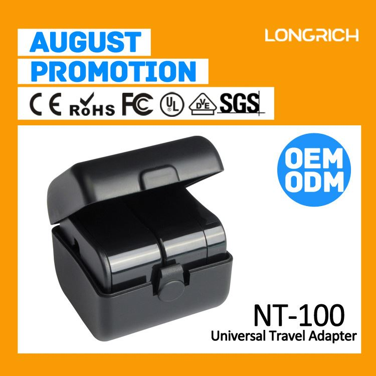 2014 LongRich eu to uk travel adapter plug for distributor(NT100)