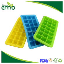 21 Cavities Summer Hot Selling High Quality Custom Silicone Ice Cube Tray With Lid