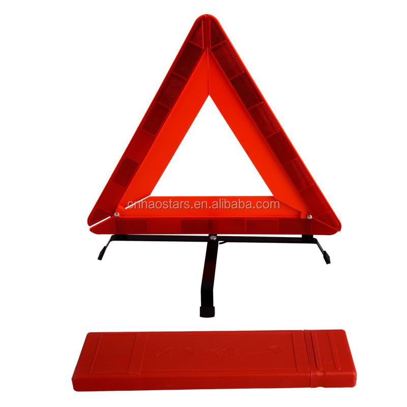 red safety reflector triangle for car