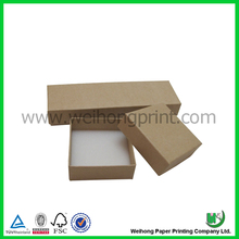 plain brown jewelry gift paper packaging box