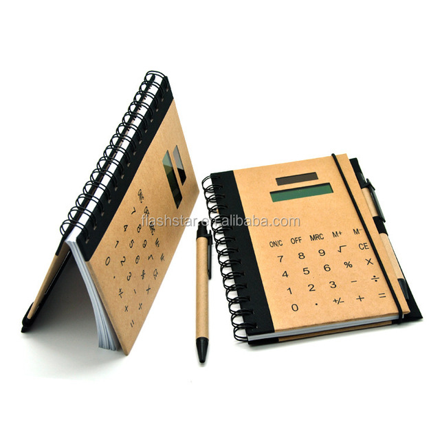 SOLAR CALCULATOR WITH NOOTBOOK
