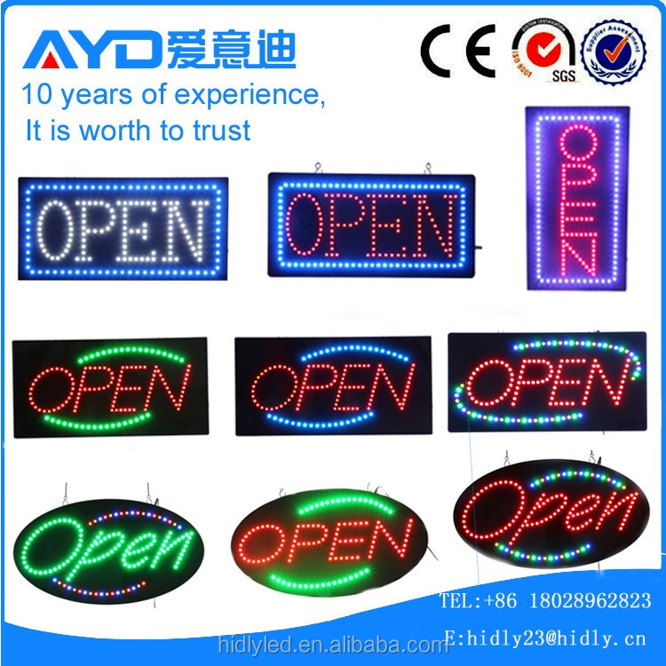 US hotcake design led open sign for shop