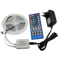 5m 5050 RGBW led strip 60leds/m 5050 led strip 300leds rgb waterproof White PCB with 40 keys IR Remote controller