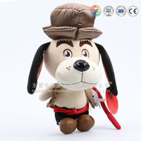 ICTI audits OEM factory plush toy dog with stuffed pp cotton