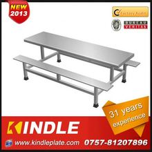 luxury small metal table with slate top for sale