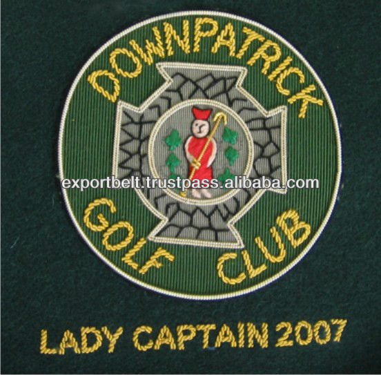 Club Badges, Hand Embroidered Club Badges for Golf, Bowling, Rifle & Pistol Shooting, Yacht Club, Karate, Premium Quality