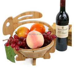 LINEX 2016 wholesale creative bamboo rabbit fruit basket utility eco-friendly fruit basket