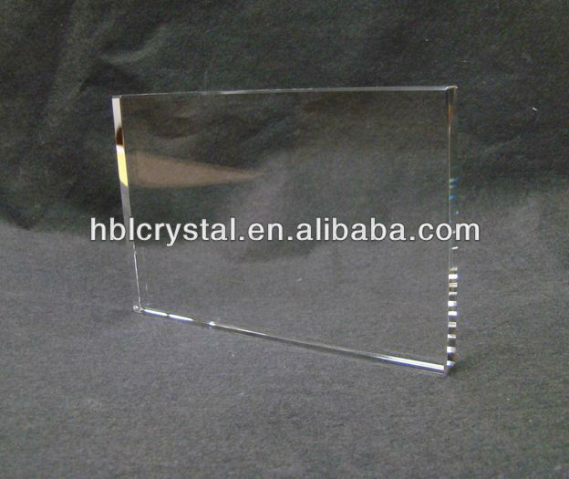 K9 crystal blank plaque