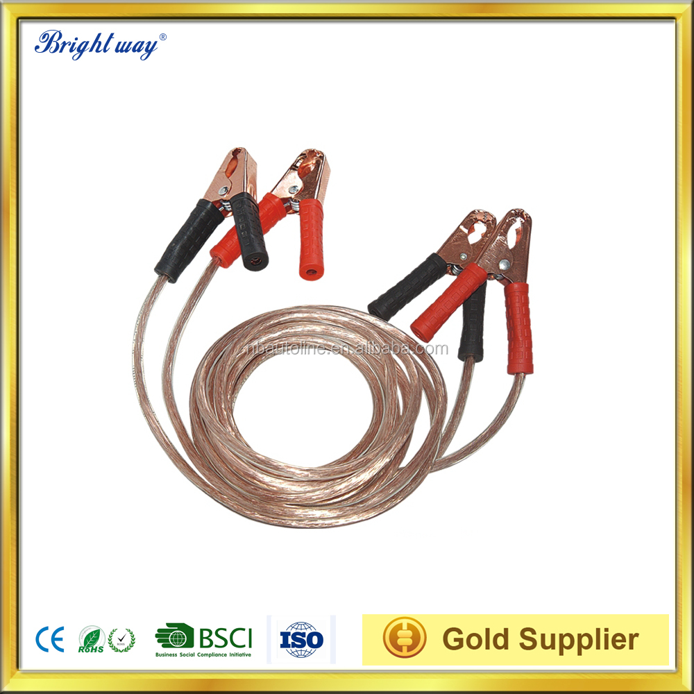 2.5M 200A transparent Emergency Booster Cable Car Battery Jumper Cable
