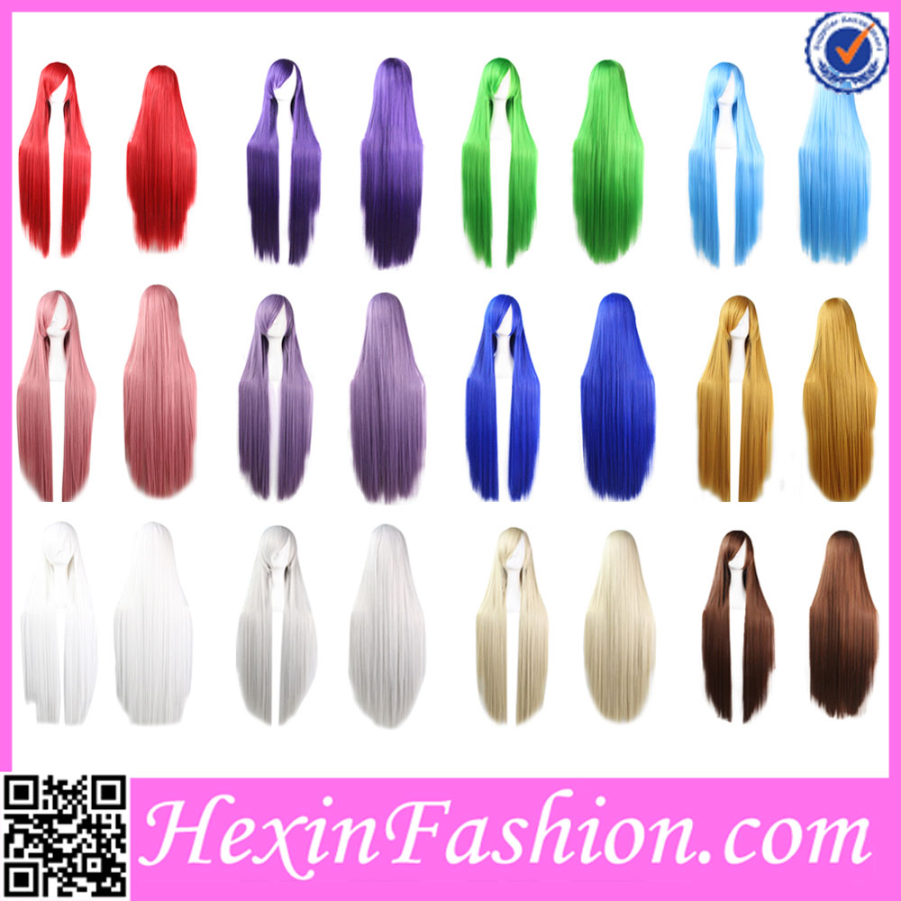 Wholesale White Multi Color Extra Long Wigs