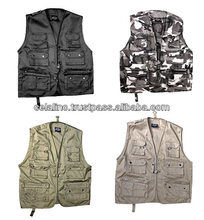 Photography Vest 100% Cotton Photography Vests Multi Pocket Vest