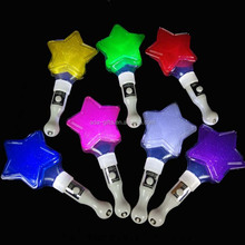 multicolor led flashing star stick led star glowing stick for concert
