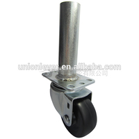Swivel 3 inch small fixed caster wheel with brake metal welded pipe tube type wheelchair caster wheel