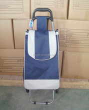 Popular 600D fabric Folding shopping trolley smart cart