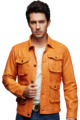 Yellow Color Fashion Leather Jacktes for Men