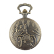 Antique Bronze Fashion Old Car Design Engraved Necklace pocket Watch Factory direct sale!