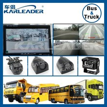 4 way video input 7 inch monitor security camera system for school bus/truck/trailer/van dvr