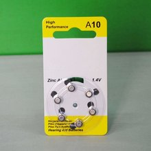 1.4v hearing aid A10 battery no rechargeable coin cell
