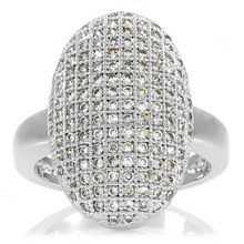 Laura's Micro Pave CZ Diamond Vampire Inspired Wedding Ring , Cock Ring