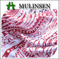 Mulinsen Textile Light Weight 100% Polyester Printed Twist Baju Kurung Satin Fabric