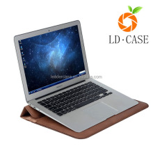 laptop stand PU leather case casual blank notebook laptop case sleeve for laptop