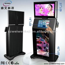 hot sale! 3 displays self service stand Touch Screen Kiosk phone booth/terminal kiosk