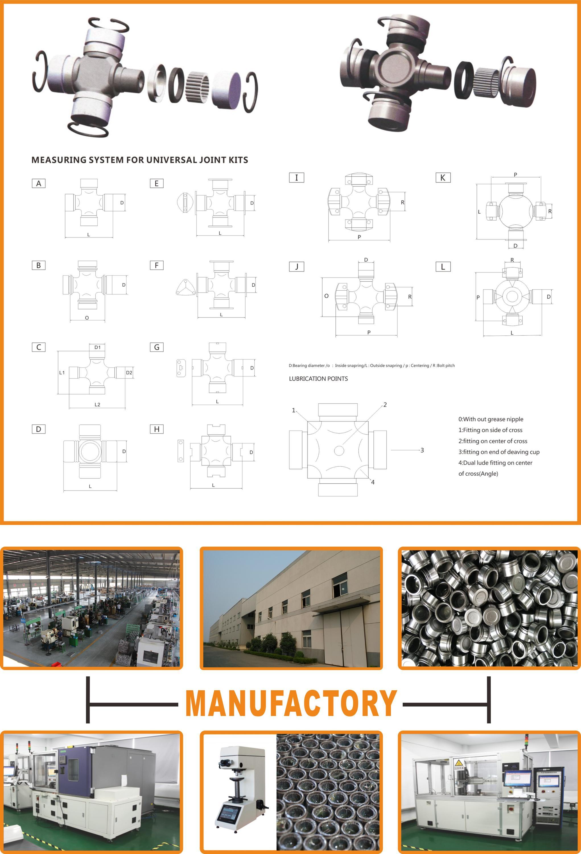 U-Joint GUN-30 Aelwen Automotive Parts 30.17*90.10 Universal Joint Cross Manufacturer