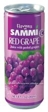 Flavours of Sammi 240ml Red Grape Juice with Peelded Grapes