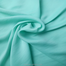 100 Polyester Satin Blend Chiffon Woven Sky-blue Fabric For T-shirt