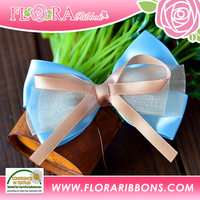 Customer Size Hair Accessories of Satin Ribbon Bow By Handmade