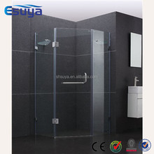 shanghai latest design shower room hinge door with 6mm 8mm clear glass simple design shower room