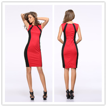 Wholesale Cheap tight dress pattern spandex formal office dress for ladies