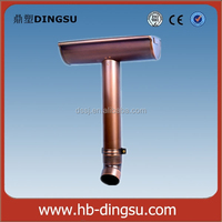 Factory 6inch copper rain gutter and downpipes/gutter and fittings/half round