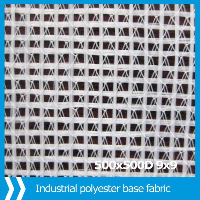 Industrial polyester knitted fabric for plastic flooring