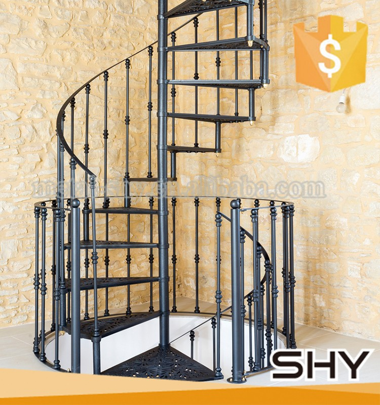 Decorative Cast Iron Spiral Staircase / Metal Snails Stair